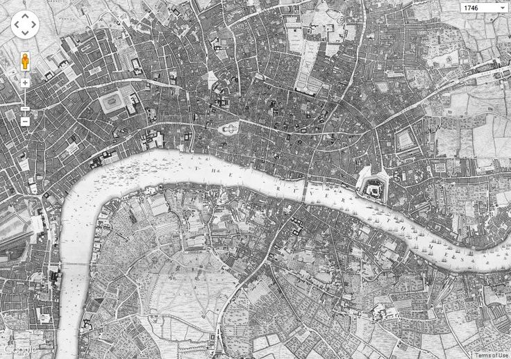 1746 map of London now available as an incredibly detailed Google map - Us Vs Th3m