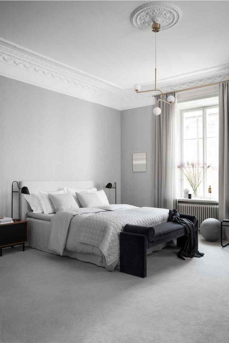 Постельное белье, стираный лен - Светло-серый - HOME   H&M RU 1