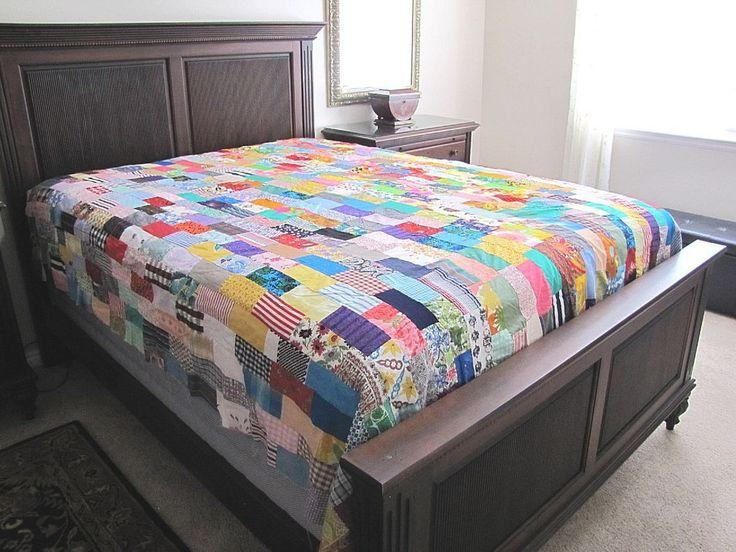 Vintage Quilt Top c1960s Queen Size