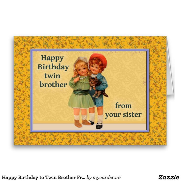 18 best Twins images – Twin Sister Birthday Card