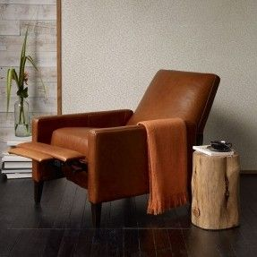 Sedgwick Recliner - Leather | west elm $1299 29 w x ... & Best 25+ Modern recliner ideas on Pinterest | Modern recliner ... islam-shia.org
