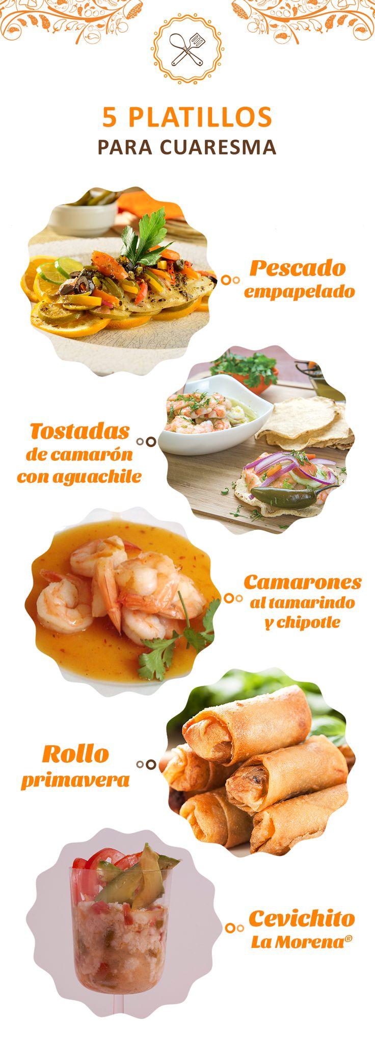 ¿Sin ideas para cuaresma? Prepara estos 5 platillos con la sazón de La Morena: http://bit.ly/2cqmEMu