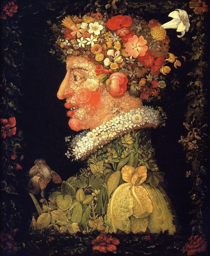 Printemps (1573, Musée du Louvre, Paris) de Giuseppe Arcimboldo. Spring.