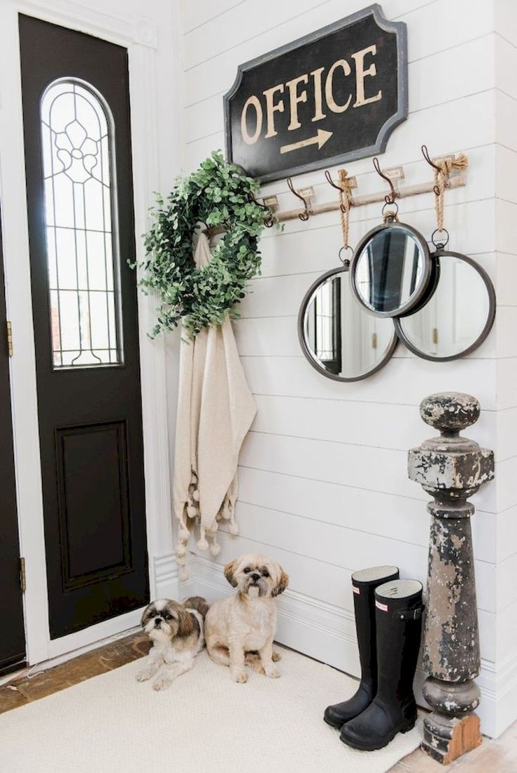 75 of the best farmhouse styled entry way / foyer design ideas. Farmhouse home decor.