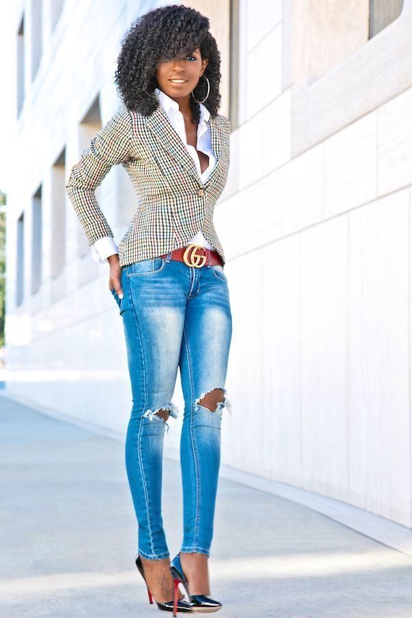40 Awesome Casual Work Outfit for Black Women 8