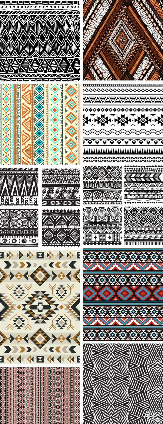 Tribal ethnic ornaments