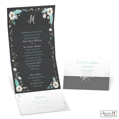 White Blossom Seal and Send Wedding Invitation | Affordable Invitation at Michaels™ Custom Invites