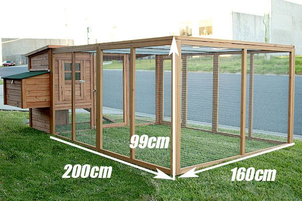 large chicken coops separated by dividers | GIANT 2.8M Chicken Coop Rabbit Hutch Hen Chook House 9R
