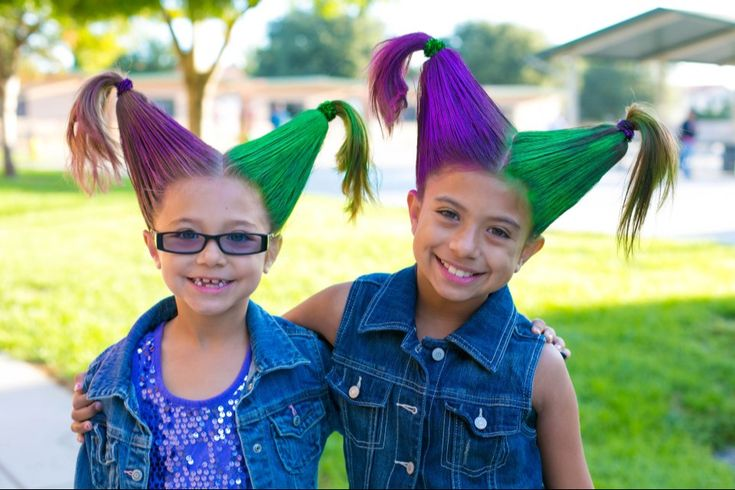 Crazy hair day at school! Just add styrofoam cones under hair and comb with extra hold gel. Thx Pinterest!
