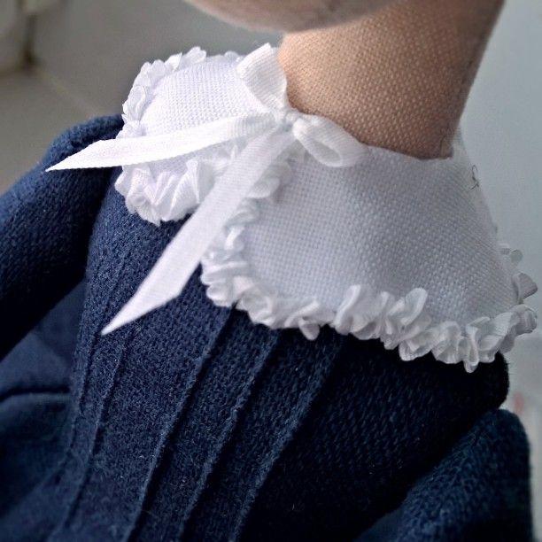 Последние штрихи в платье #процесс #workinprogress #babyblog #текстильнаякукла…