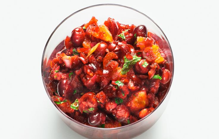 Cranberry-Orange Relish with Mint - Bon Appétit (seems like a good variation of the usual raw cranberry sauce I normally make for Thanksgiving)