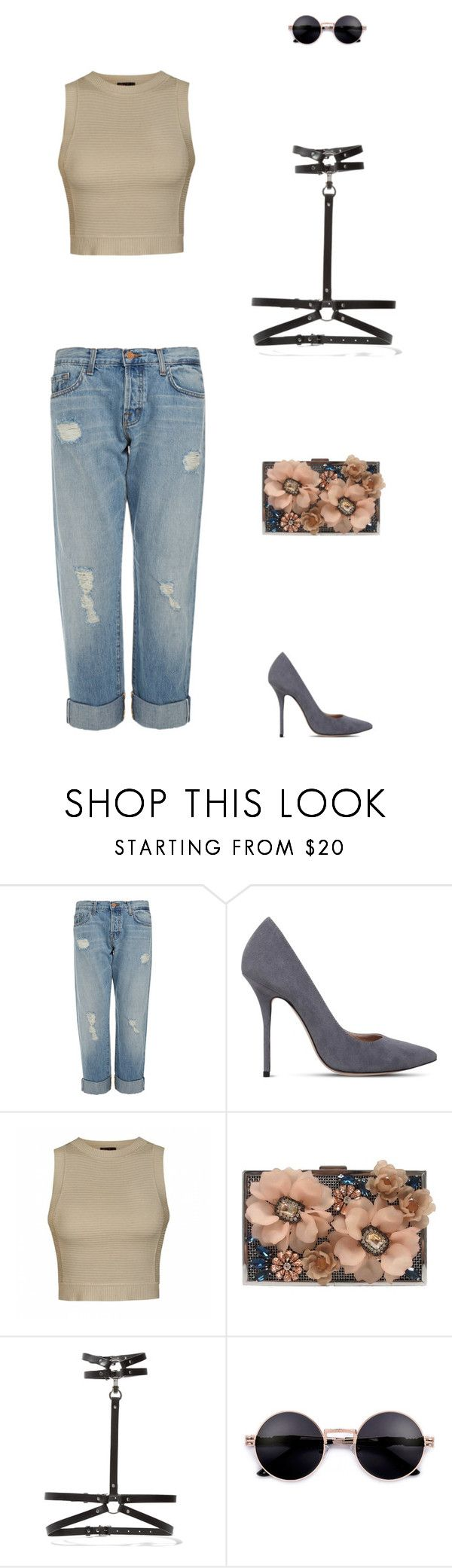 """""""Grad Party Outfit"""" by lstar237 on Polyvore featuring J Brand, Kurt Geiger, Ally Fashion, Sondra Roberts and Zana Bayne"""