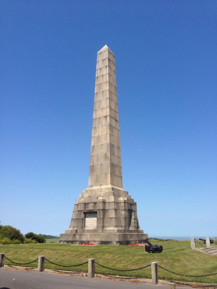 Dover Patrol Memorial (1914 - 1919), St. Margaret's Bay, Kent. There is a second memorial on the French side of the Channel and a third bear the Brooklyn Bridge in New York.