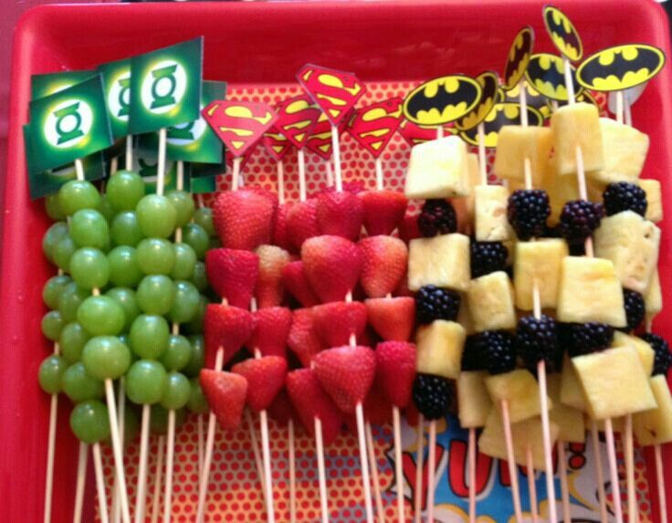 Superhelden Party Fruit Platter