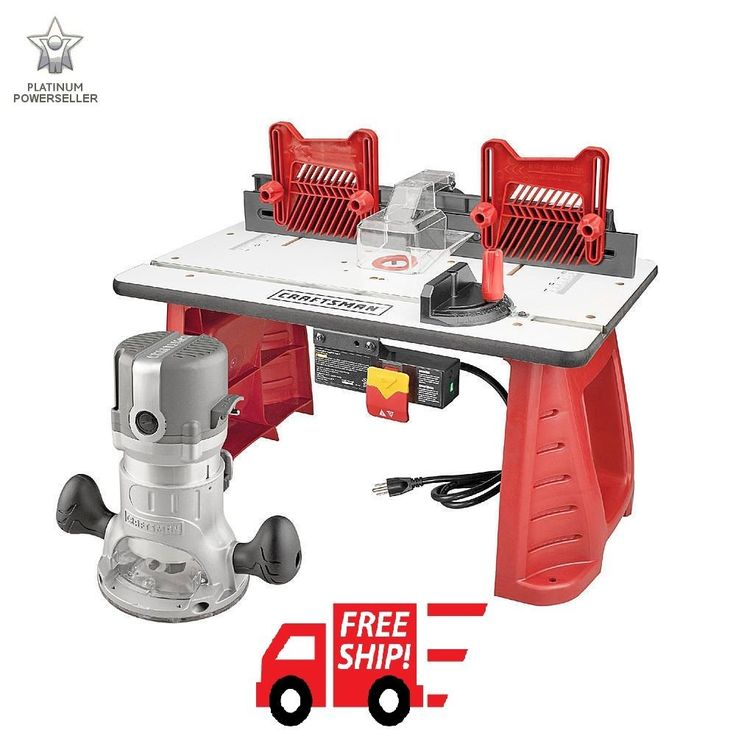 Craftsman Router Table Router Combo Portable Power Shaper Miter Gauge Woodwork #Craftsman
