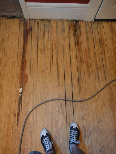 how to get water stain out of timber floor
