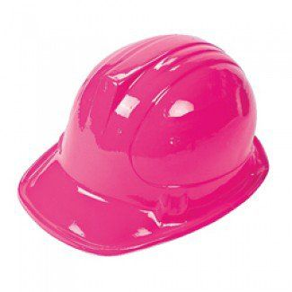 Construction Party Supplies, Pink Construction Helmets