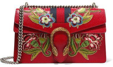 eecc42b554b5 Gucci - Dionysus Small Appliquéd Textured-leather Shoulder Bag - one size