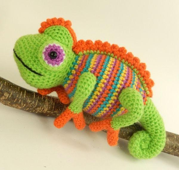Amigurumi Chameleon Pattern : 44 best images about UNCINETTO GIOCHI on Pinterest ...