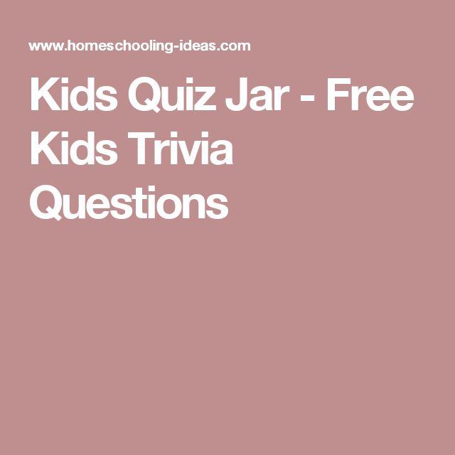 Kids Quiz Jar - Free Kids Trivia Questions