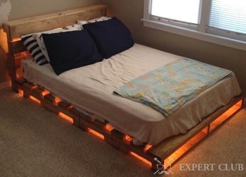 Кровать из поддонов: делаем своими руками