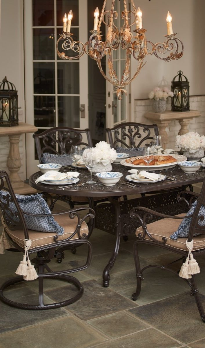 Pull Up To A Dining Table Inspired By The Glorious French Architecture Of New  Orleans.