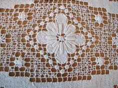 Small Net Runner White handmade Dresser Scarf Mid by BettyandBabs