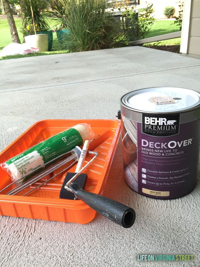 "This product is really unique, in that it brings new life to old wood and concrete surfaces. It also dries four times thicker than traditional solid color stains. Additionally, it conceals splinters and cracks up to 1⁄4"" thick (which is major if you have an old deck)"