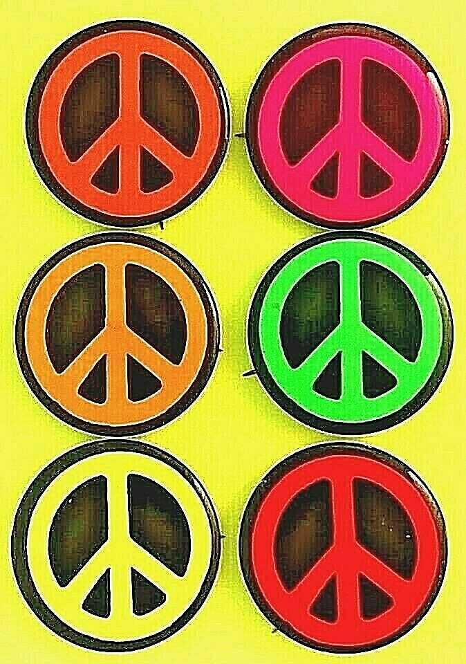 Peace Sign Buttons 1965 Anti War Protest Peace Symbol Set Of Six Colors Peace Sign Peace Symbol Peace Sign Symbol