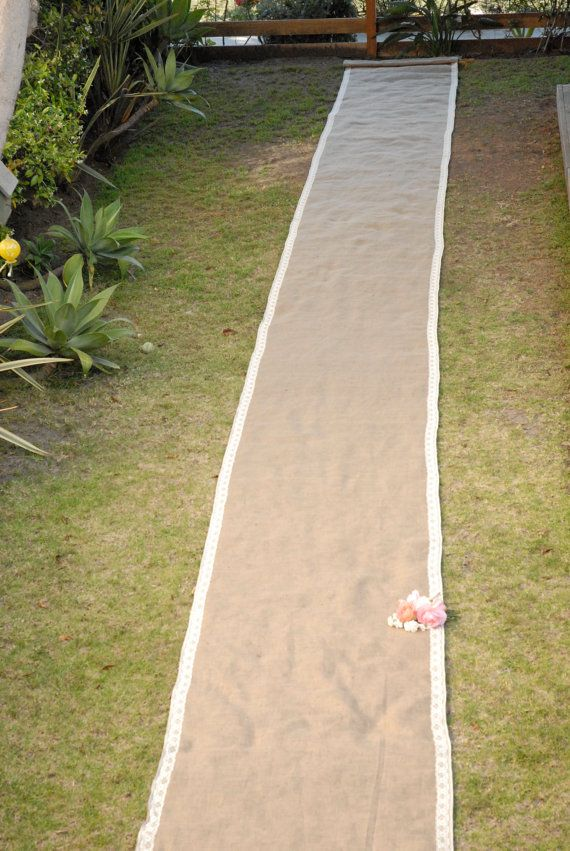 burlap aisle runner 75 feet long no trim