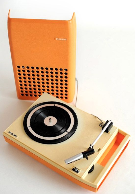 Orange Turntable: 1970S Vintage, Turntable, Philips Portable, Music, Record Players, 1970S Orange, Recordplayers