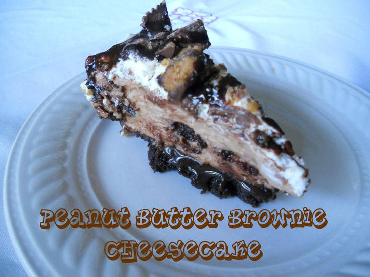 Peanut Butter Brownie Cheesecake - oh my, i wound up just dumping this ...