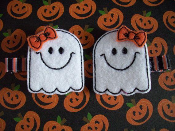 Hair accessory: Cute Ghosts Halloween Felt Hair Clip