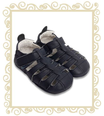 On sale! http://www.buttonbaby.com.au/soles-newboy-navy-p-758.html  Old soles newboy navy sandals, navy, are perfect for the warmer weather with a more open style to allow feet to breath while still protecting the toes.   Size AU 3, US 4 approx 12.2cm Old soles are hand crafted from 100% soft leather.  It is well documented that flexible leather shoes for this stage in a baby's life are the next best thing to bare feet.
