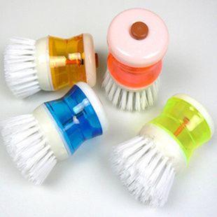Бесплатная доставка ( 2 шт./лот ) кисть добавить моющее средство пластиковые щетка для очистки посуда сковорода чаша блюдо и другую мебель