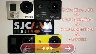 SJCAM SJ5000 vs GoPro Hero3 BE vs SJCAM SJ4000 vs AMKOV 5000