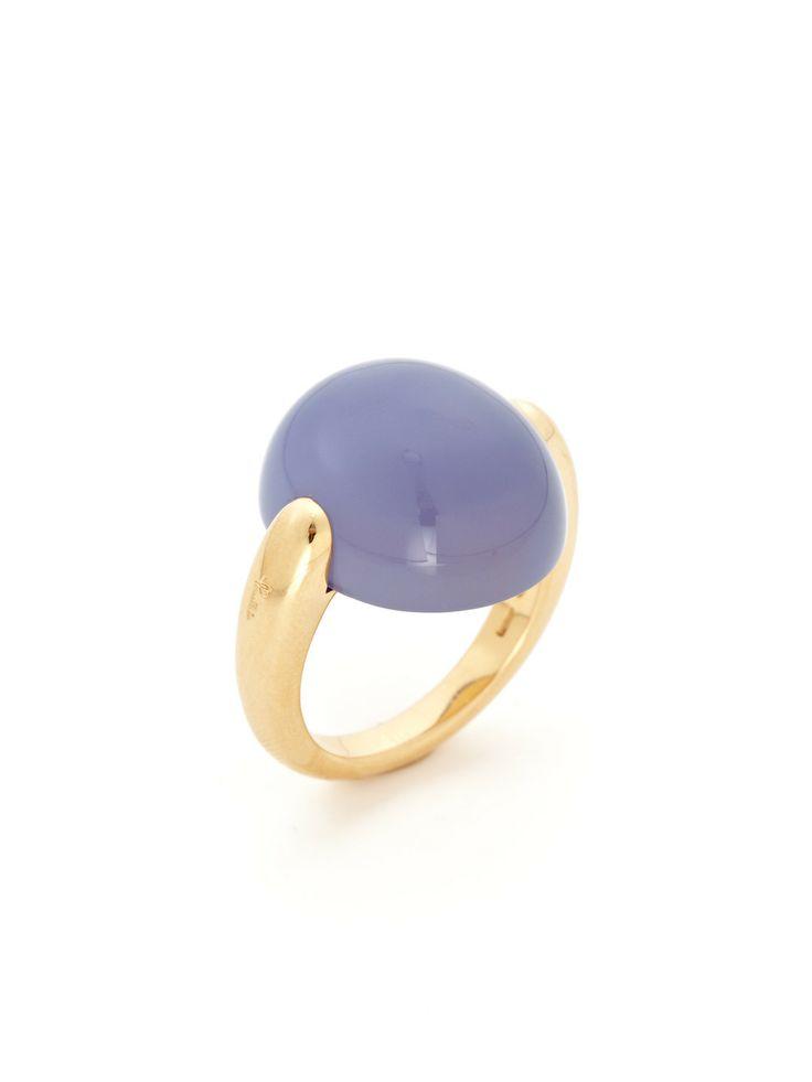 Pomellato Blue Chalcedony Oval Ring by Pomellato at Gilt
