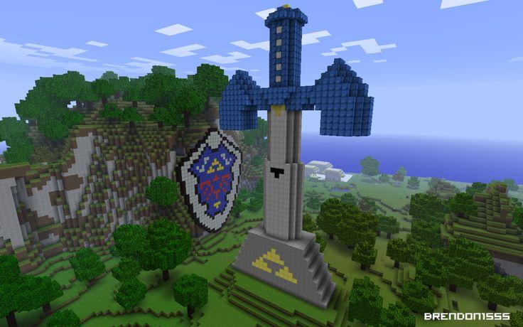 Minecraft Zelda Tribute by brendon1555.deviantart.com on @deviantART