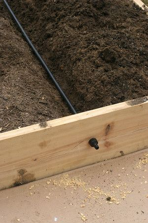 Even if you forget, a timer will regularly turn on this Irrigation System for Raised Bed Garden | Prudent Baby
