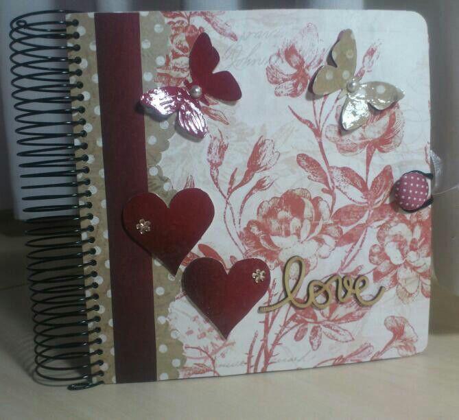 Libretita romántica scrap