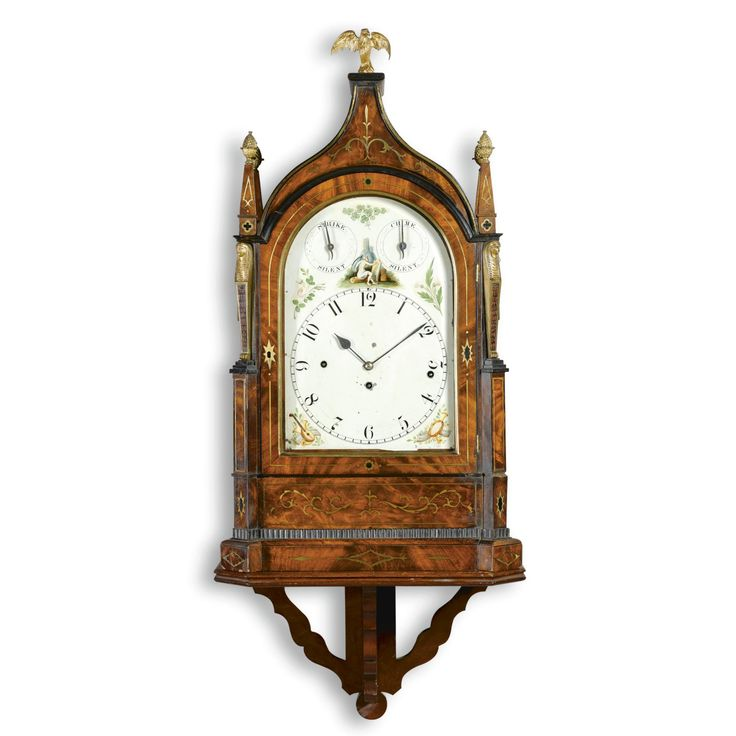 A brass inlaid mahogany chiming bracket clock, William Preddy, Langport, circa 1825