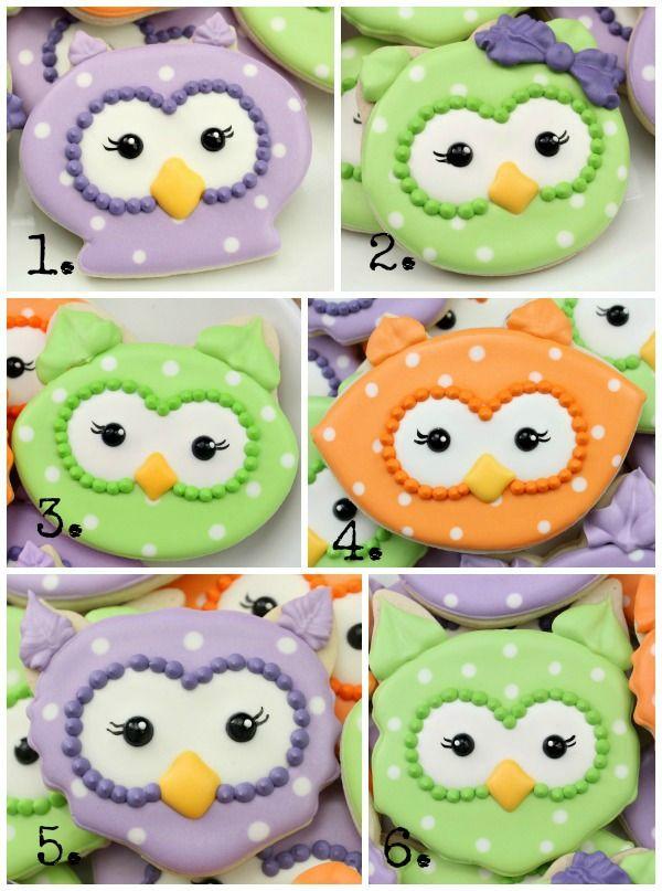 sweetsugarbelle:  Owl Cookies