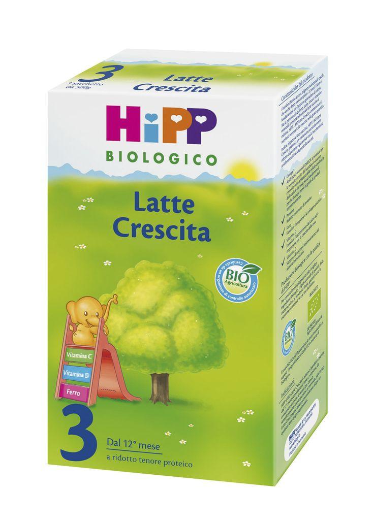 HiPP Latte Crescita 3 - polvere HiPP 3 #Bio: studiato per adattarsi in modo specifico alle esigenze dei bambini dal 12° mese ed è realizzato a partire da pregiato latte bio. A ridotto tenore proteico, con ferro, vitamine e acidi grassi Omega 3, garantisce al bambino un'alimentazione adeguata alla sua età - 500g