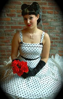 Cute rockabilly wedding dress but I think this is cuter for like the rehearsal dinner
