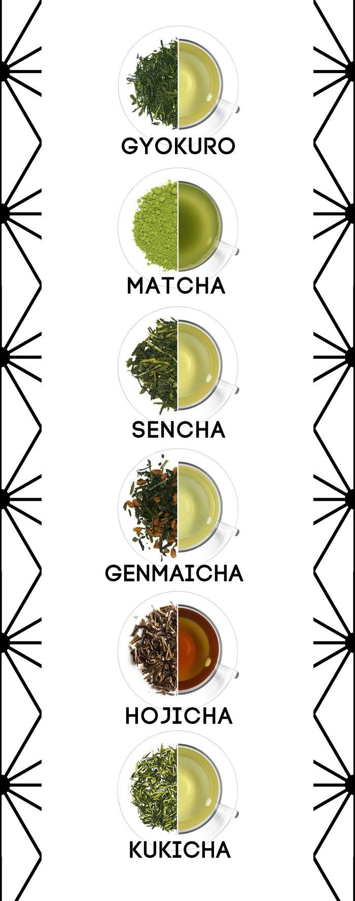 variedades de te verde japonés