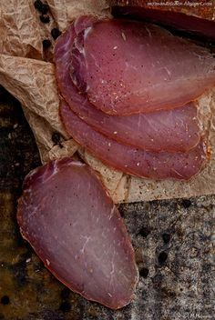 Polish Cured Pork Loin Recipe My man's kitchen...: Schab suszony - This link is to the English Translation of the Original post in Polish
