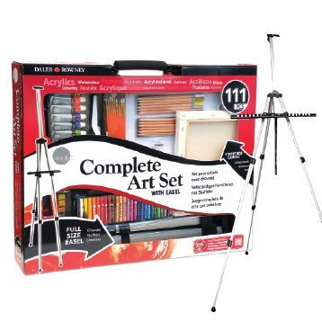 The Complete Art Set with Easel from Daler Rowney. was $175 NOW $99