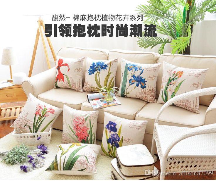 European Design Pillow Case Pillowcase Elegant Florals Back Cushion Auto Home Supplies Canvas Sofa Pillow Cover Cotton Linen Quality 45*45cm 24x24 Pillow Covers Love Pillowcases From Allison87099, $4.43| Dhgate.Com