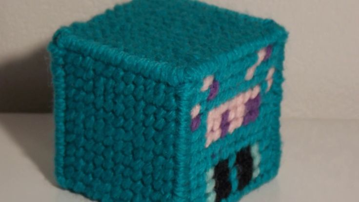 How to make Plastic Canvas Minecraft Cave spider, Spider and Herobrine