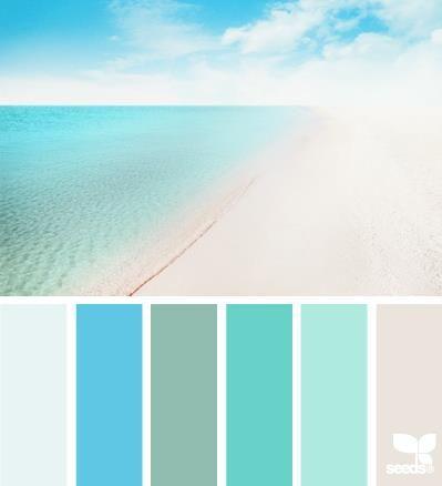 Harmonie bleu lagon I Design I Couleur I Inspiration I Camaïeu I Peinture I